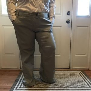 Stretch straight leg khaki